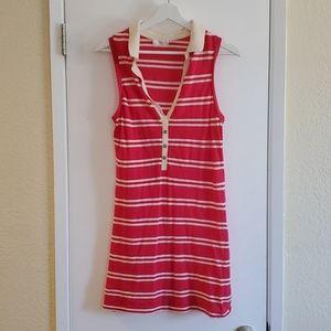 Stem 100% Organic Cotton Striped Polo Dress